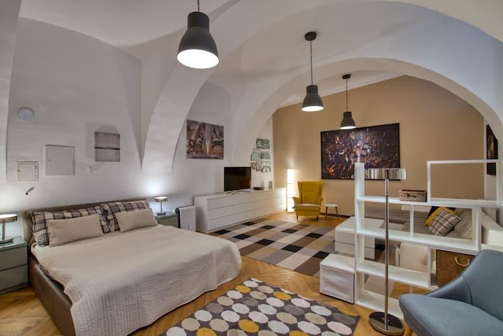 Vienna Central Souterrain Loft Apartment