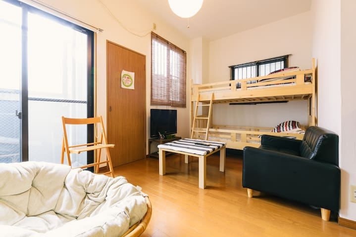 3min walk from hakata☆4people☆free Wi-Fi☆1st floor