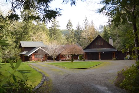 Two Beautiful Log Cabins on the Sol Duc River