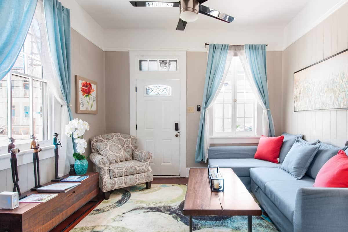 Shotgun Craftsman House with Private Patio in Great Location