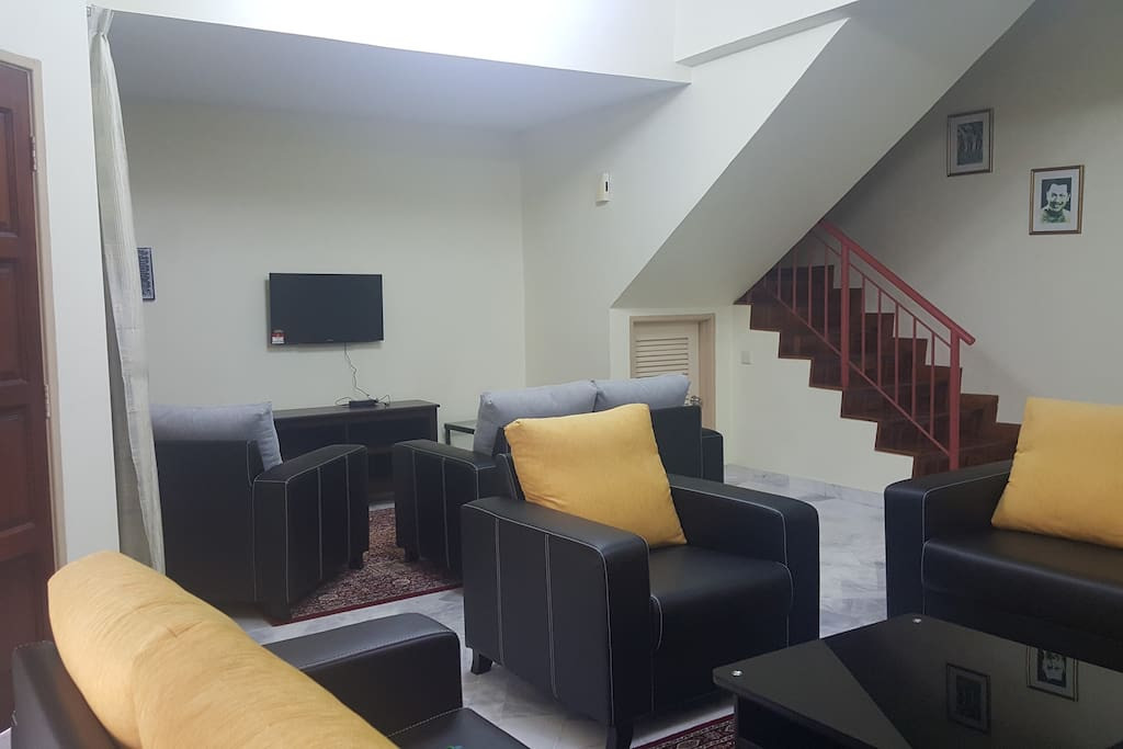 Living room with ample seating area