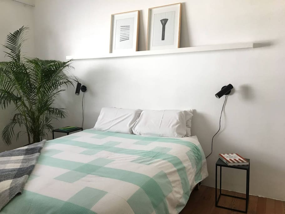 Master Bedroom has individual pock sprung mattress and latex toping for a comfortable sleep, including latex pillows for additional head support.