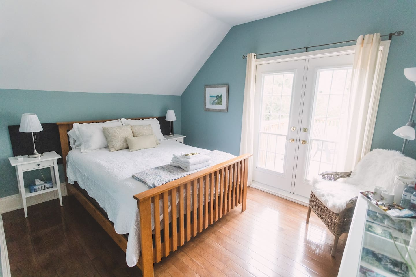 Charming guest room in century home.