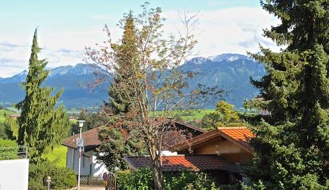 Ferienzimmer mit Terrasse im Allgäu