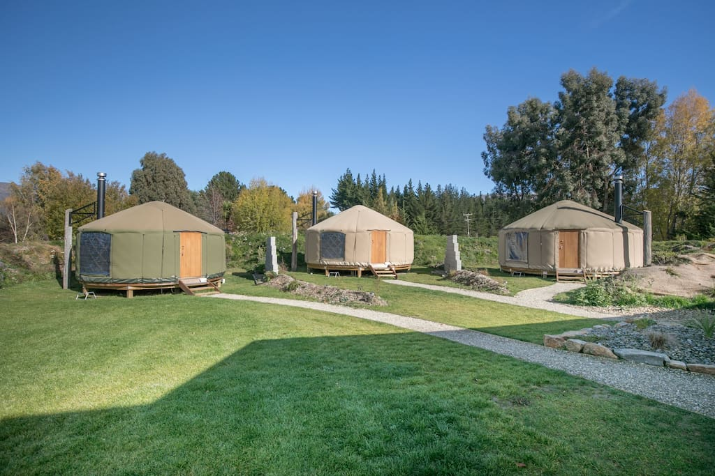 Oasis Yurts in Autumn