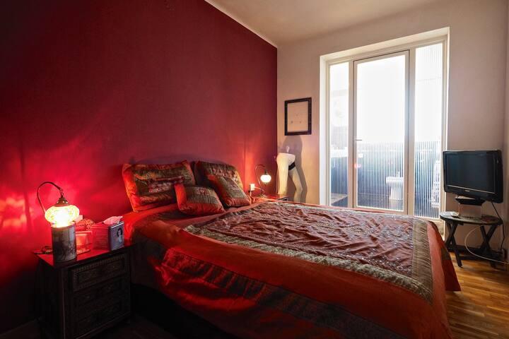 Sagrada Fam., A/C, ensuite room, Penthouse, views