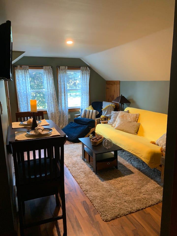 Cozy upstairs apt near Finger Lakes
