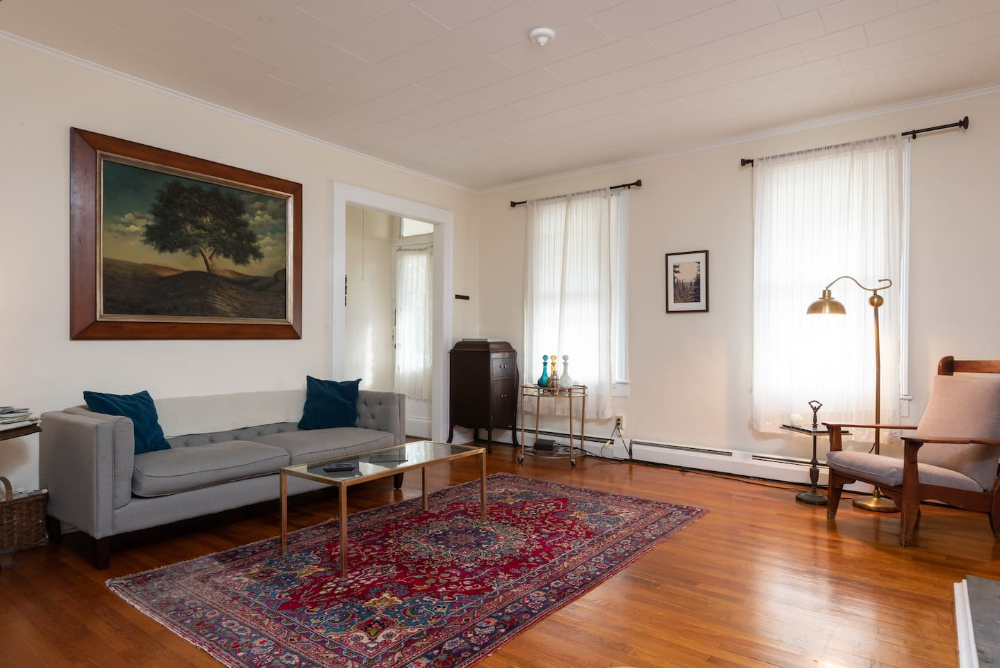 Welcome to our beautiful historic Hudson home on Columbia Street, 1 block to Warren.  Filled with both local antiques and modern conveniences and comforts, this living space will be the perfect place to unwind after a long day on the town.