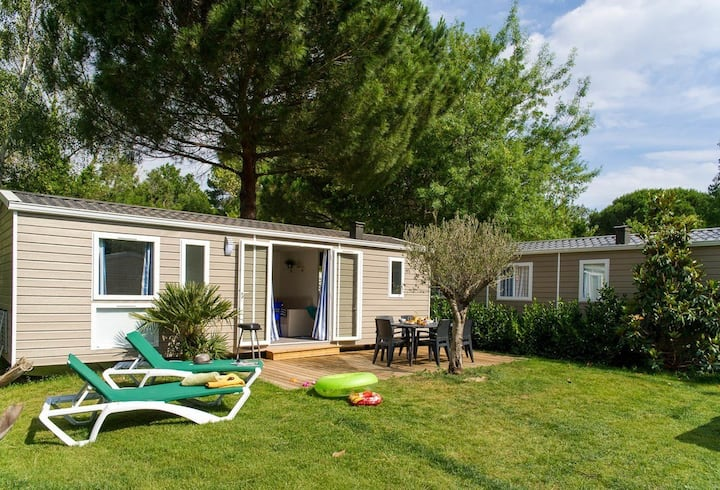 Camping la Sirène 5* 2 bedroom mobile home 25m2