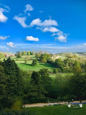 Fabulous view over the Esk Valley from the windows at Groves Hall