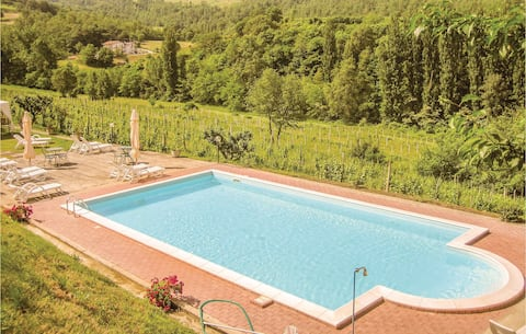 Stunning home in Verna-Calzolaro -PG- with WiFi, Outdoor swimming pool and 1 Bedrooms