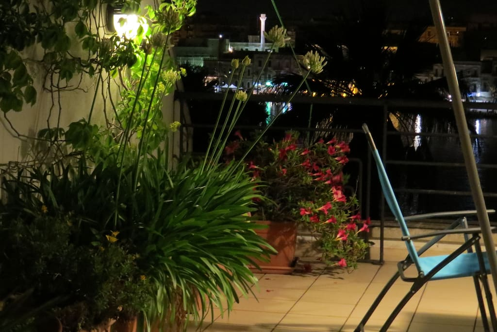 Guest Terrace at Night!