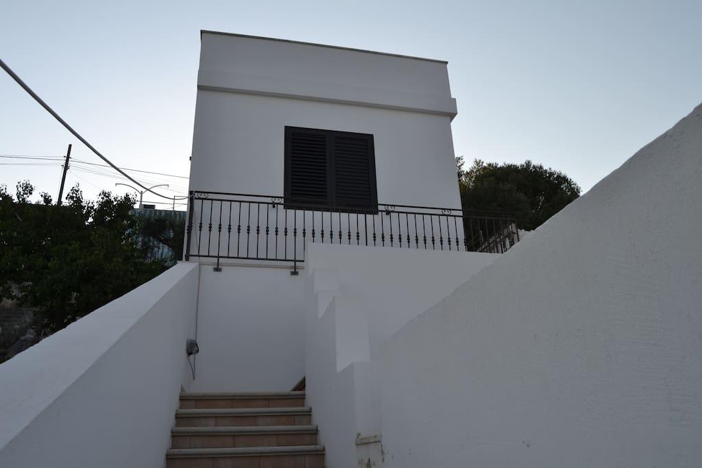 La casa dall'esterno