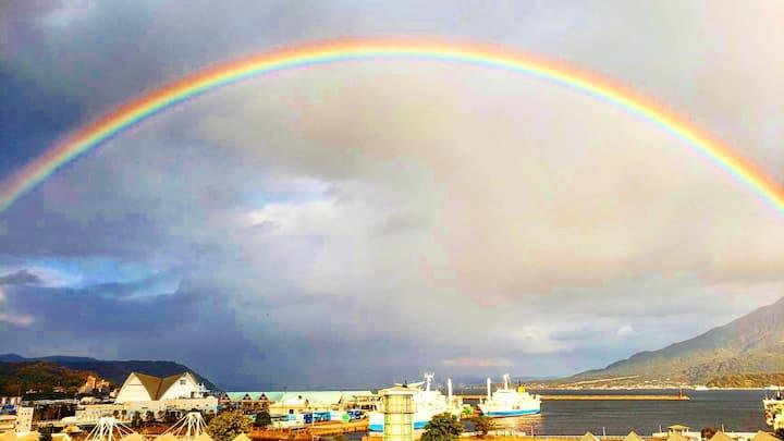 402鹿児島中心地。屋久島高速船ターミナルまですぐそば