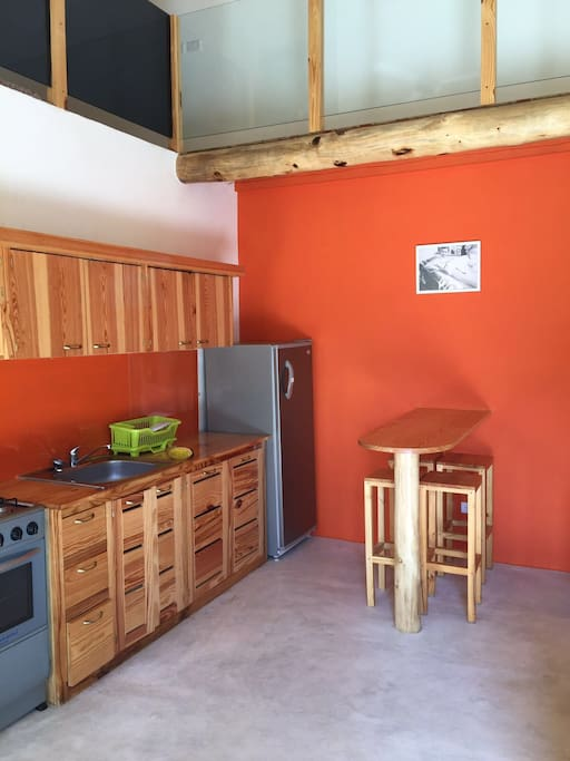 Sala cucina molto grande