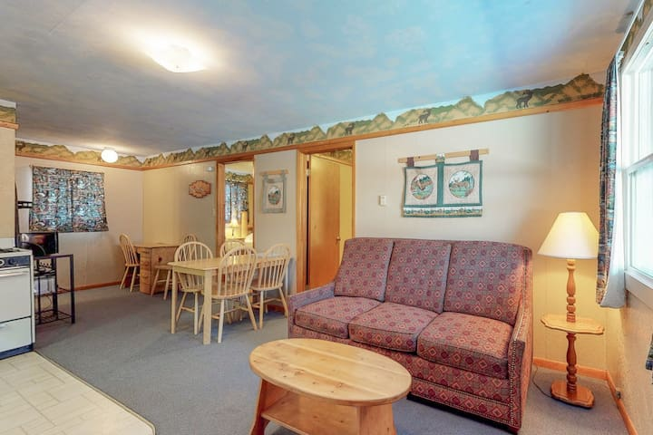 Cabin-like vacation rental with home comforts and shared hot tub - dogs welcome!