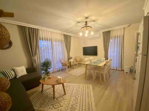 Ocean House in Datça: Well-furnished garden floor