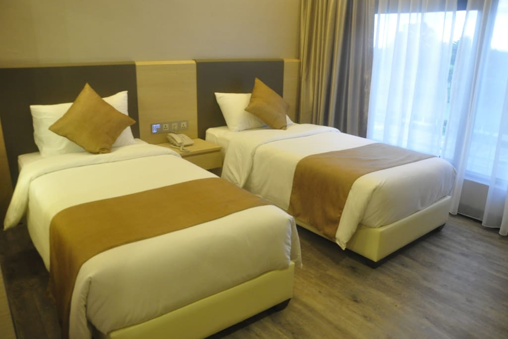 Superior Twin Rate : Rm128.00nett/per night Accommodates: 2 Bathrooms: 1 Bed type: Real Bed Bedrooms: 1 Beds: 2 single beds