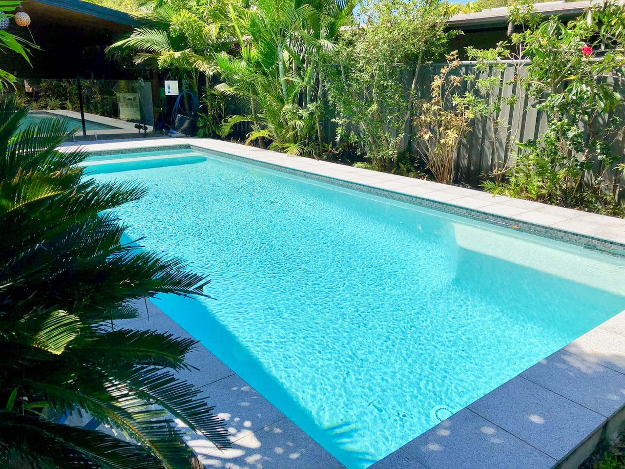 Enjoy the tropical mineral pool