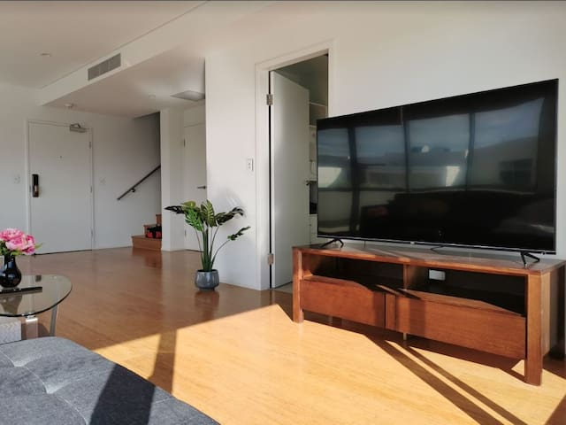 Huge TV and spacious living area