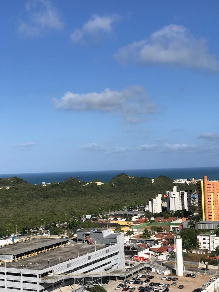 Quarto confortável a 4km da praia de Ponta Negra