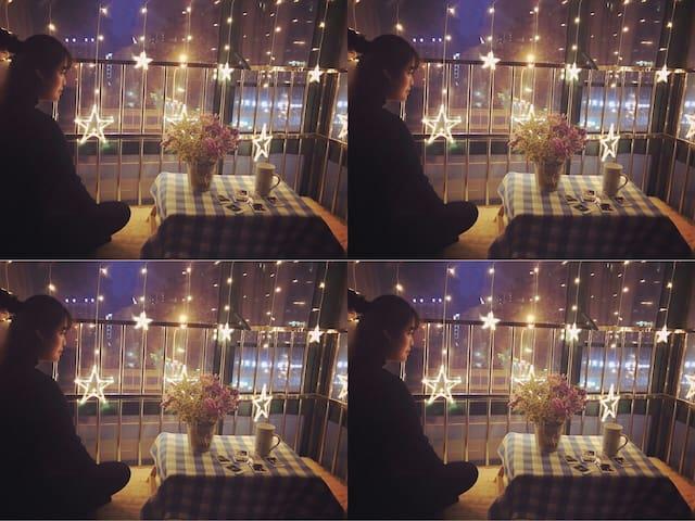 汉口火车站旁/地铁二号线口/万松园小吃街/江汉路/武广/欢乐谷直达公交/星空loft格格小屋 - Wuhan - Lägenhet
