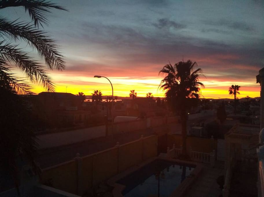 Sunset view from Balcony Terrace