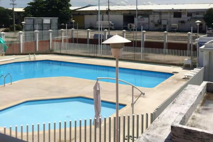 Family vacation house with a pool, tennis court and BBQ area!