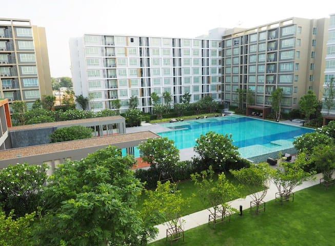 Condo resort new & cozy room amazing swimming pool