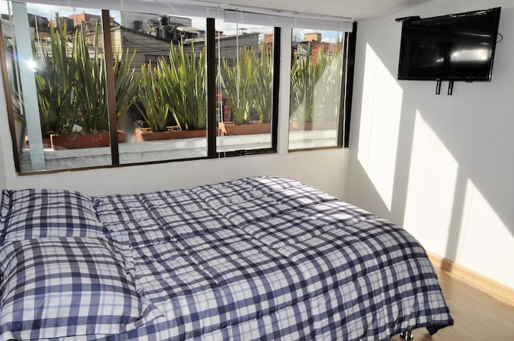 Private bedroom with bathroom, comfy and central