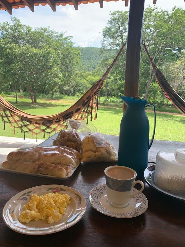 Café ao pé da montanha!!!