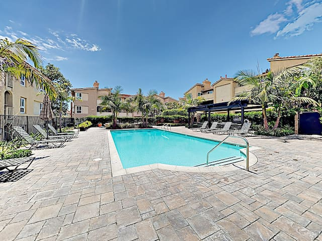 Soak in the sun by the beautiful shared pool!