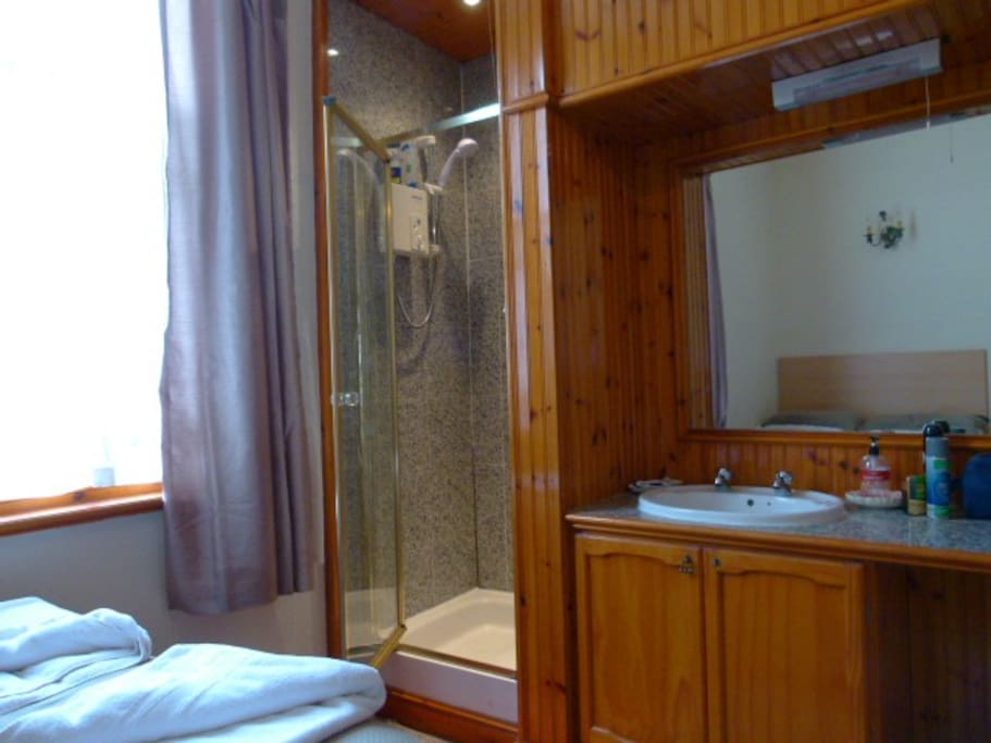 Room1 with shower & hand basin
