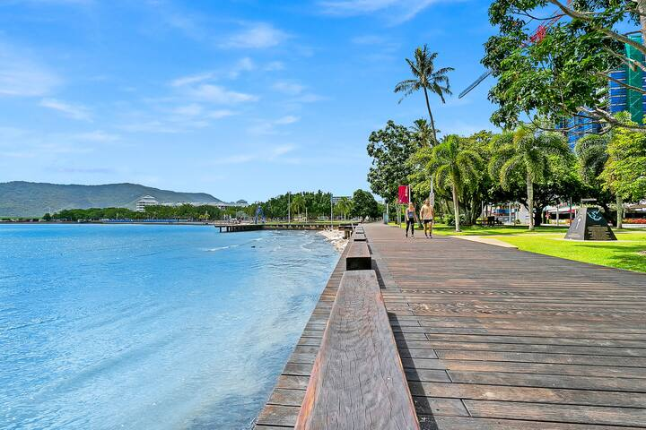 Take a relaxing stroll along the Esplanade just across the street.