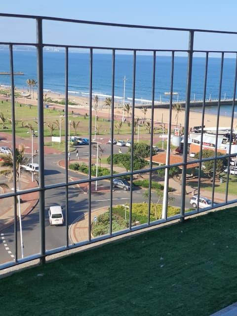 Beachfront apartment in Durban North Beach.