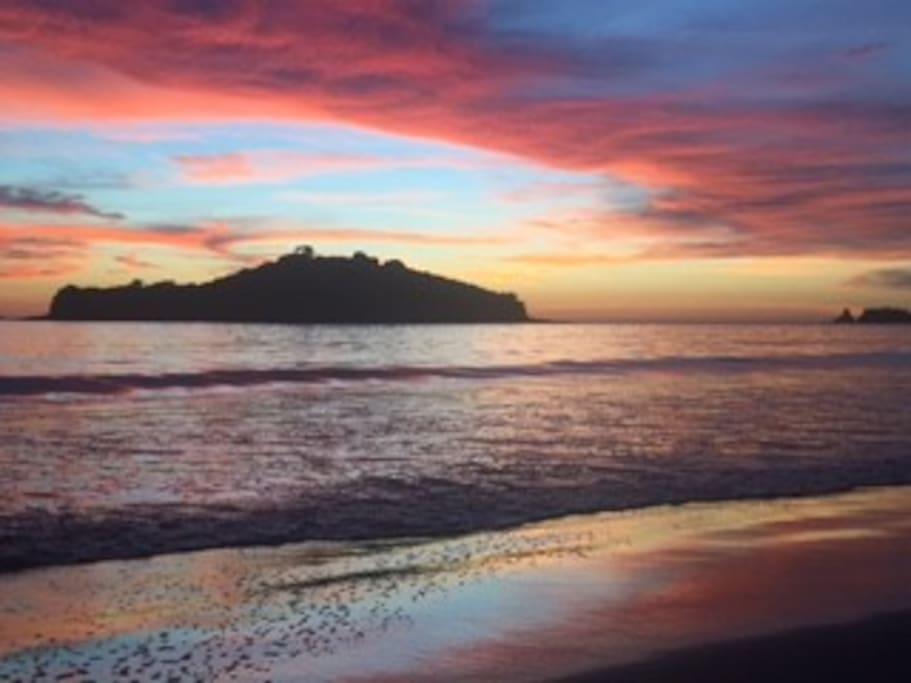 Sunset in Playa la Penca 50 Mtrs in front of Villaggio