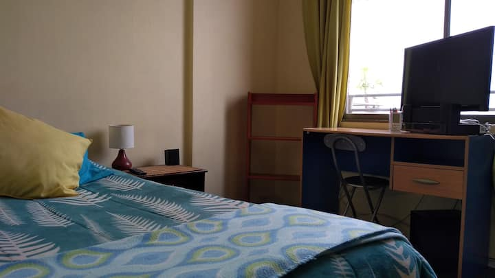 Habitación Individual, Baño Exclusivo, Linda Vista