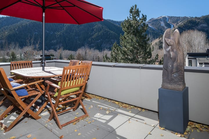 Stylish penthouse in Ketchum with amazing views and Wifi