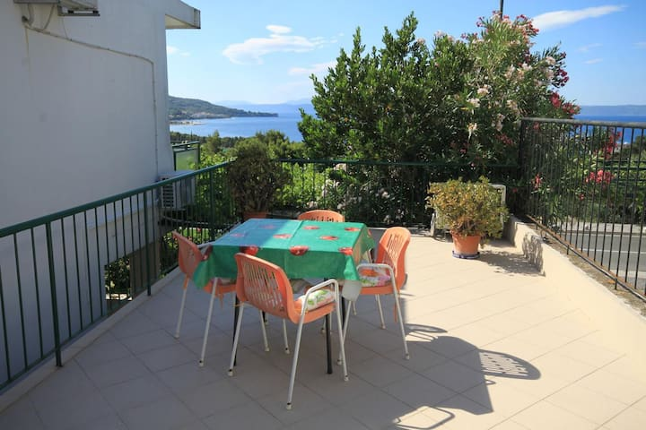 Room with terrace and sea view Tučepi, Makarska (S-6901-b)