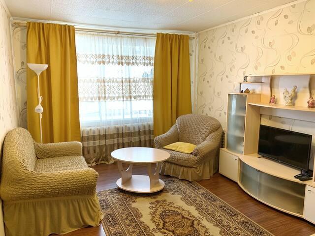 Апартаменты на Советской с большой кроватью.