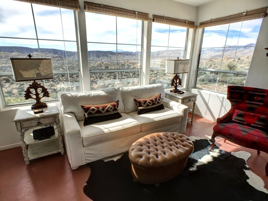Living room faces South with gorgeous sunsets and desert view for miles