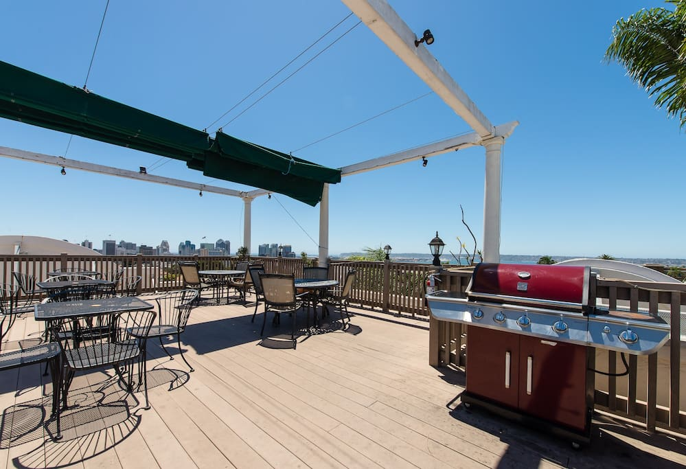 The Roof Top with a great view of the city and harbor.
