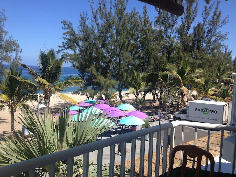 restaurants sur la plage très bons!