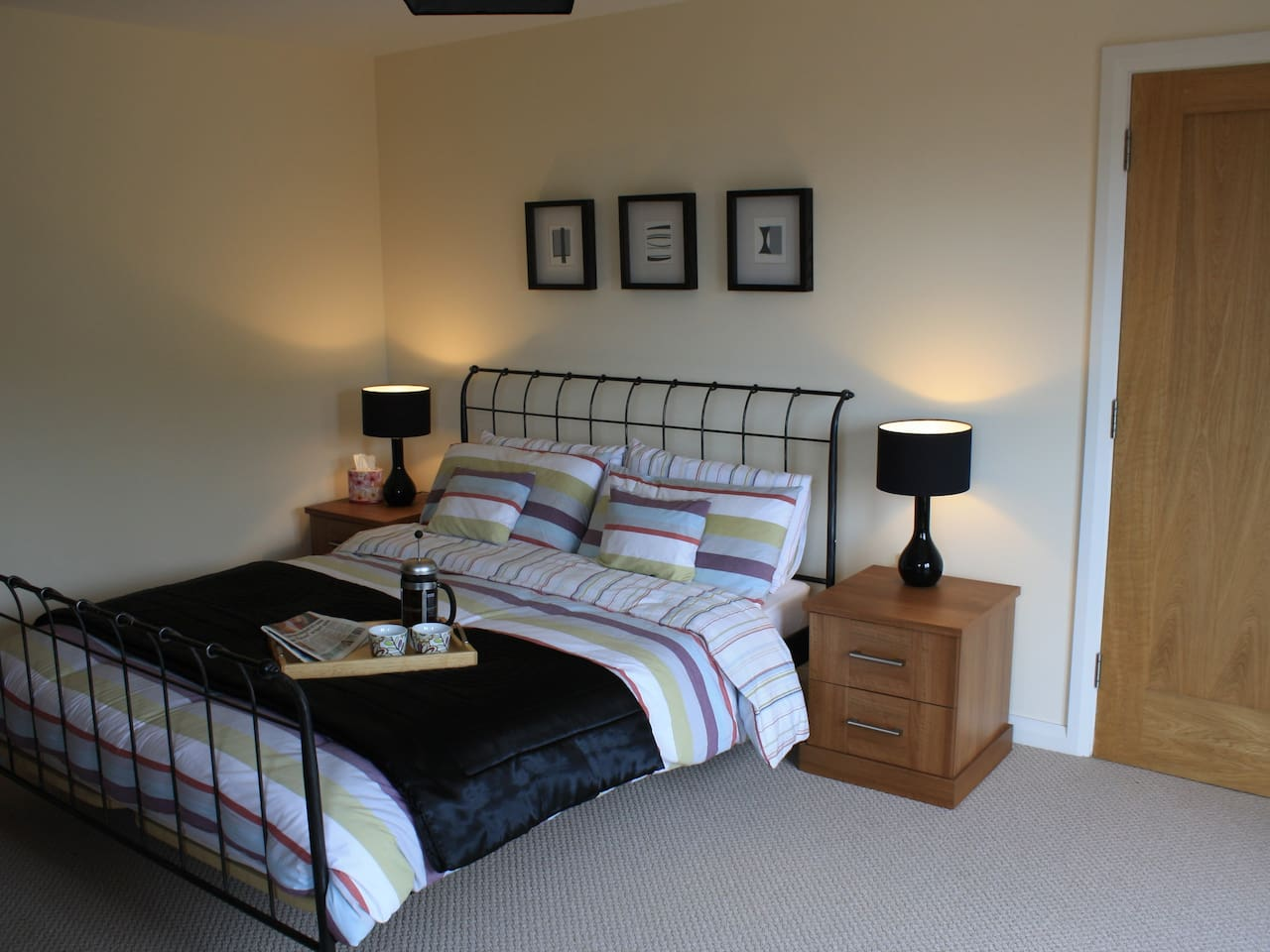Master Bedroom, with King size bed and ensuite bathroom
