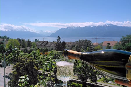 Huge Apartment near Lausanne Center, Stunning View - Pully