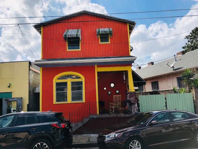 The Big Orange House on Franklin