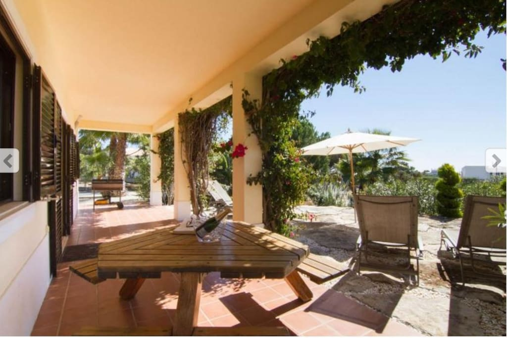 Shaded Terrace for alfresco dining and BBQ ing