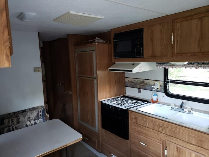 Two bedrooms  trailer for the whole family.