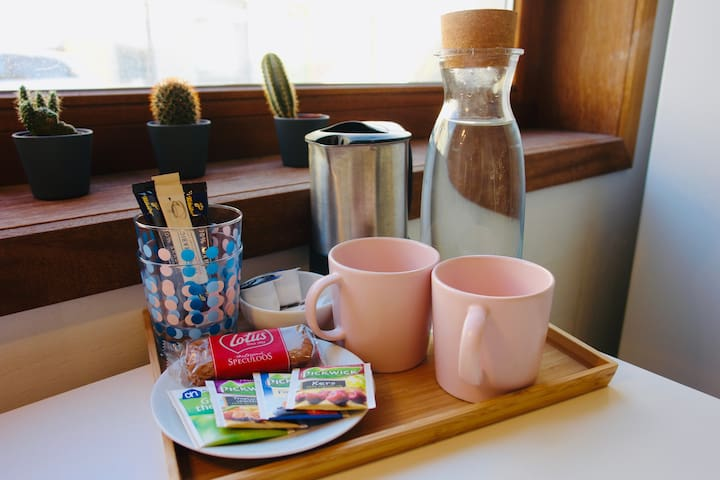 You can make tea or coffee in your room.