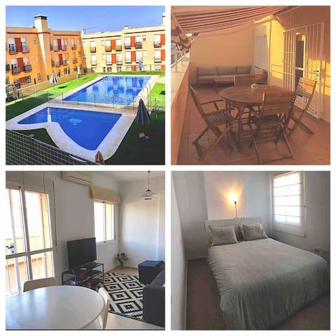 Ático La Estación : 2 dorm,terraza, piscina,garaje